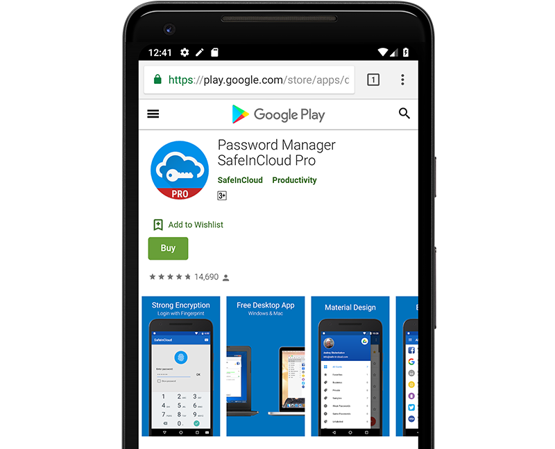 SafeInCloud Password Manager for Android, iOS, Windows, and Mac